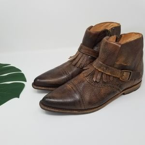 Bed Stu | Dipper Fringe Leather Ankle Boots | 11